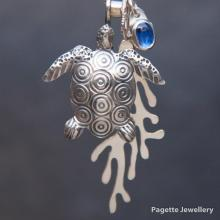 Turrle Ocean Charm Necklace N182