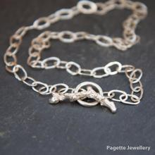 Hammered Chain Necklace N194