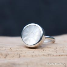 Carved Mother of Pearl Ring R157
