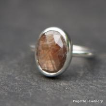 Golden Brown Sapphire Ring R163