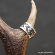 Floral Ring Band with stackers R232
