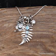 Fern Woodland Charm Necklace N195 RESERVED
