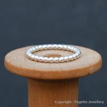 Beaded 1.5 mm Silver Stacking Ring R105